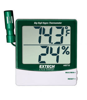Extech 445715 Big Digit Hygro-Thermometer with Remote Probe
